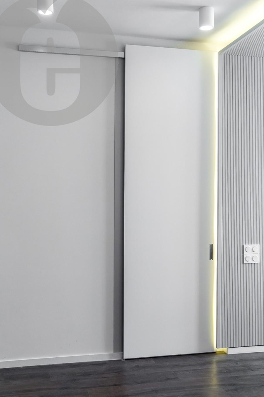 Сдвижная дверь с невидимой направляющей