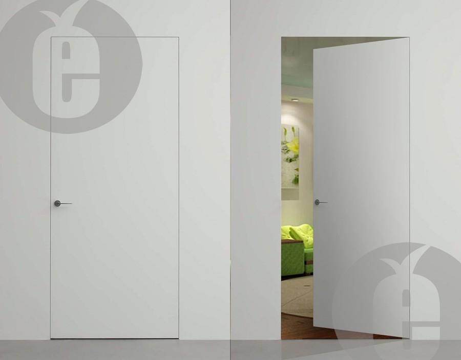 Скрытые двери из сосны под покраску