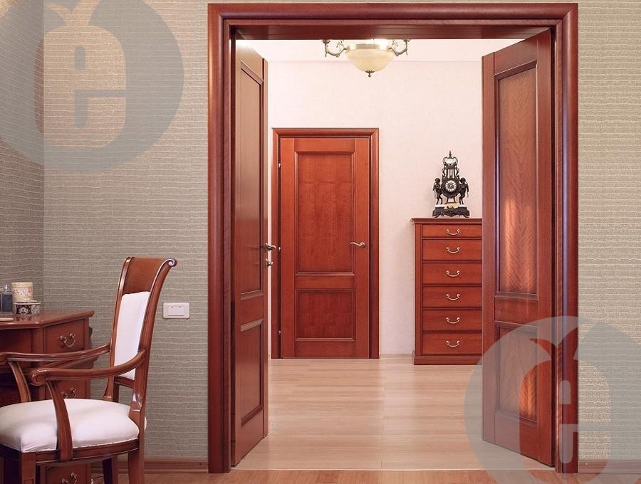 Скрытые межкомнатные двери (красное дерево)