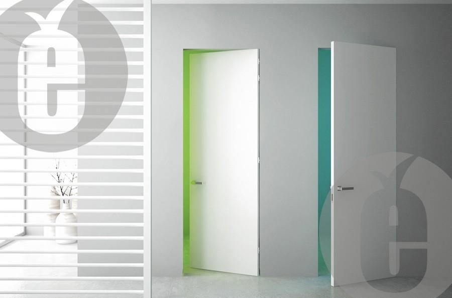 Скрытая белая дверь под покраску
