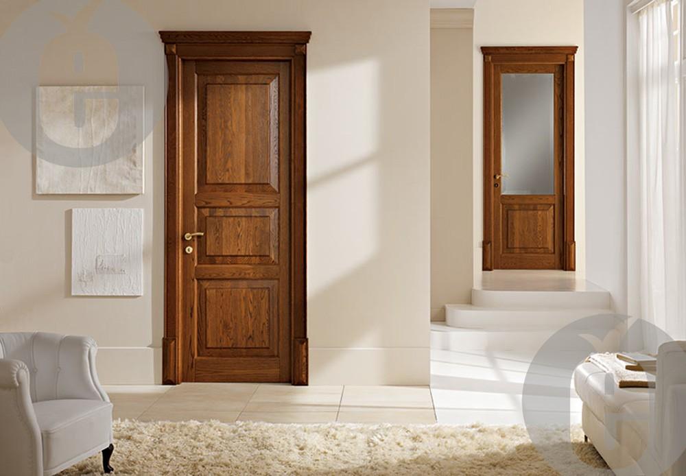 Невидимые межкомнатные двери из массива дерева