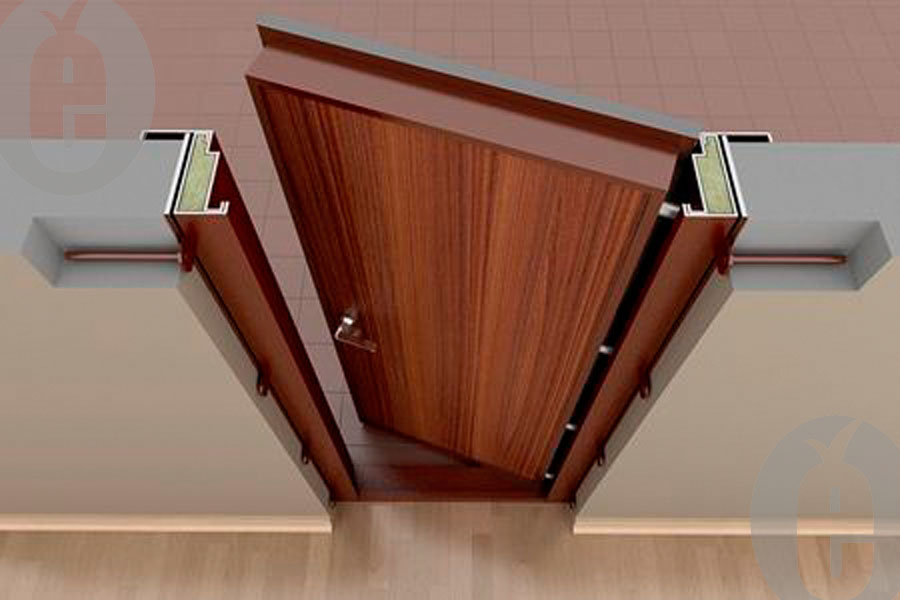 Скрытая установка двери