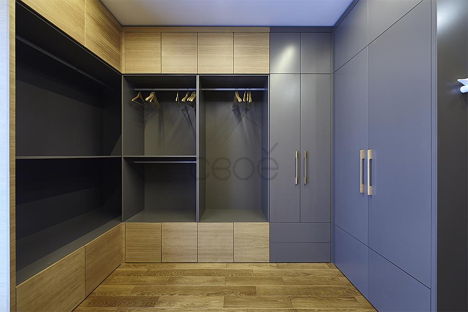 Система шкафов в гардеробной