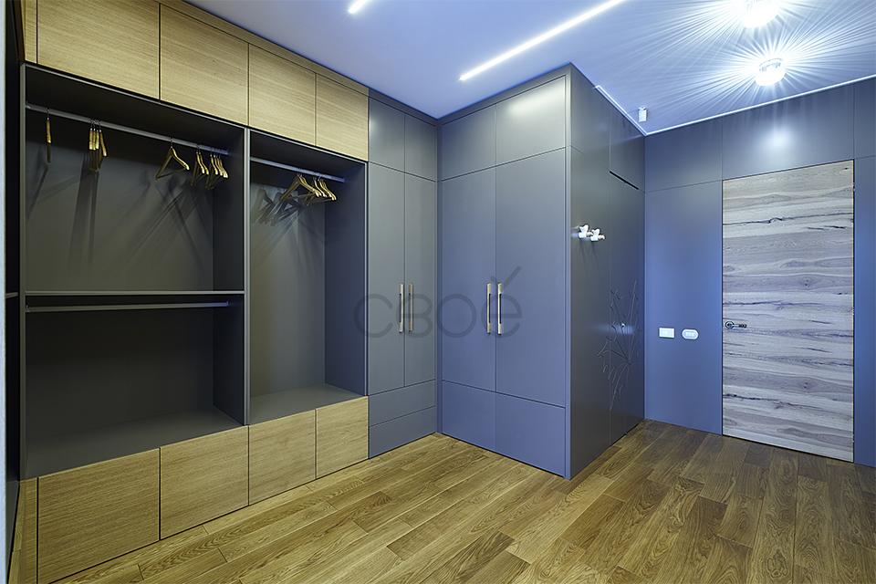 Открытые шкафы в гардеробную