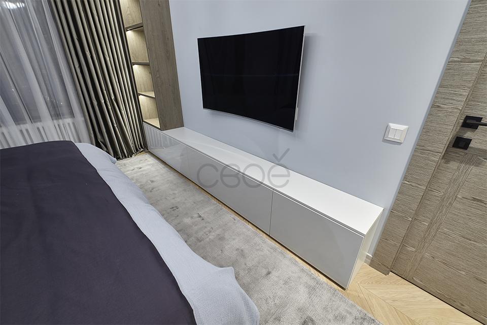 Белая тумба под ТВ