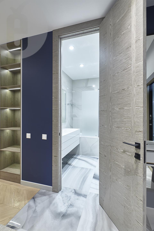 Дизайнерские двери натуральный шпон со скрытыми петлями