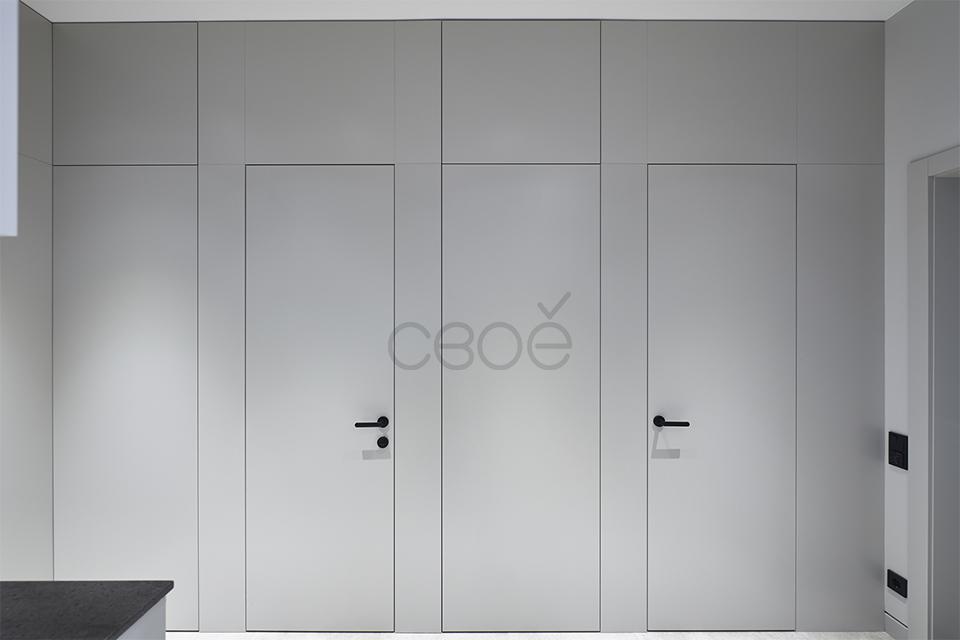 Скрытые двери в теле панелей