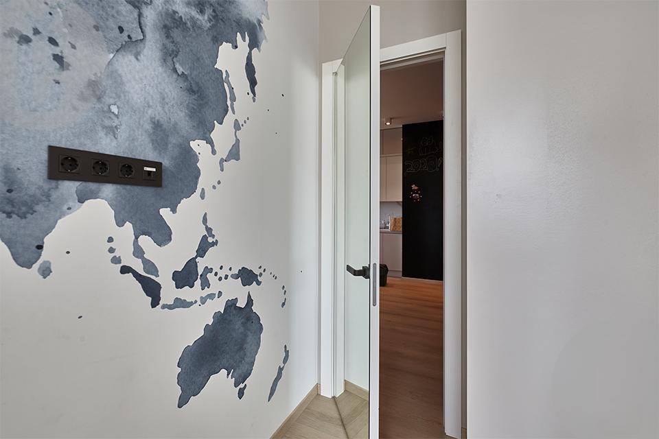 Скрытые межкомнатные двери в шпоне Табу