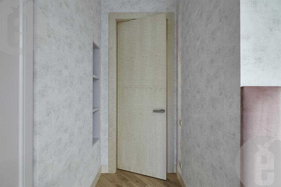 Межкомнатные двери в шпоне Клен Сикамора